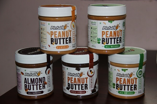 Pintola Almond and Peanut Butter Jars